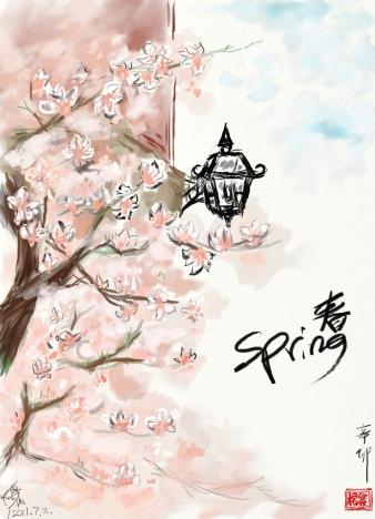 Spring in Harvard Yard